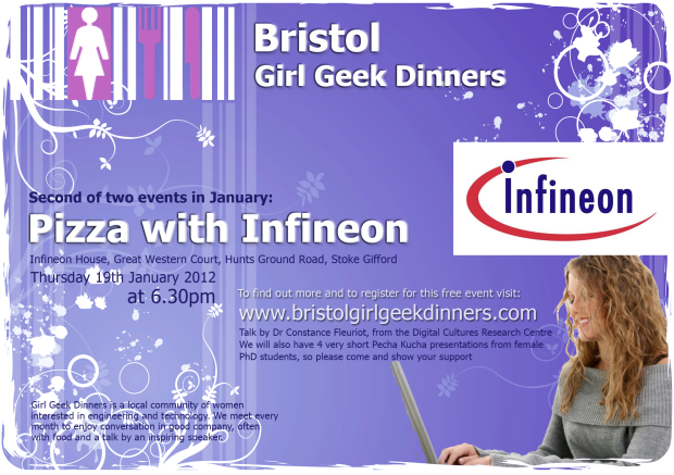 Girl Geeks Pizza with Infineon