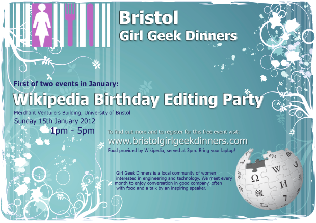 Girl Geeks Wiki Birthday Edit Party